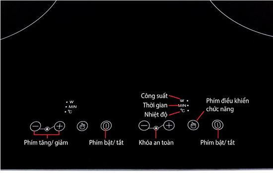 Bàn phím Bếp từ Taka I2B2