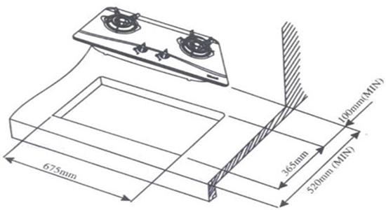 Kích thước Bếp âm Rinnai RVB-2BG(B)